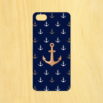 Anchor Pattern Version 2 iPhone 4/4S 5/5C 6/6+ and Samsung Galaxy S3/S4/S5 Phone Case