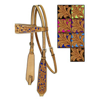 Turn-Two Equine Mesquite Canyon™ Floral Tooled Headstall