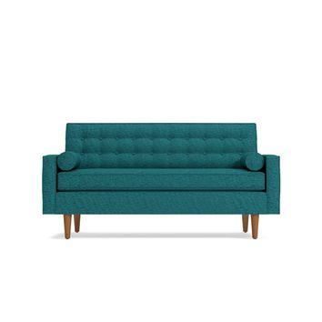 Saturn Apartment Size Sofa in CHICAGO BLUE - CLEARANCE