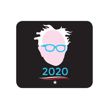 Bernie Sanders for President 2020 Black Mouse Pad Textile Surface