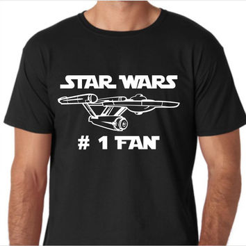 Star Wars (Star Trek Parody) Number One Fan Funny Custom Made T-Shirt