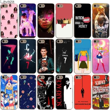 Lavaza Rihanna Ronaldo 7 Football Star Sailor Moon Lune Scarface Case for iPhone XS Max XR X 8 7 6 6S Plus 5 5S SE