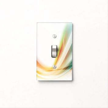 Abstract Swirl 2 Light Switch Cover