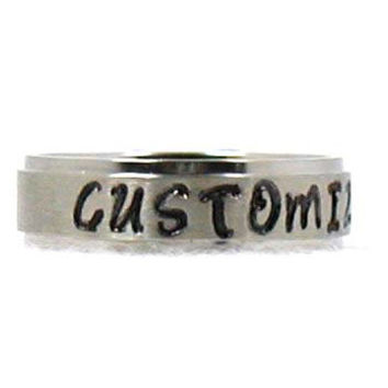Custom Ring, Phrase Ring, Stainless Steel Ring, Name Ring, Personalized Ring, Custom Name Ring, Hand Stamped Ring, Promise Ring, Silver Ring