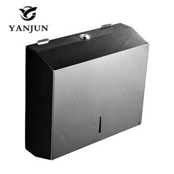 Yanjun Wall Mounted Stainless Steel Toilet Paper Holder WC Paper Towel Holder Tissue Dispenser  Bathroom Accessories YJ-8808