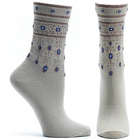 Bejeweled Cuffs Sock