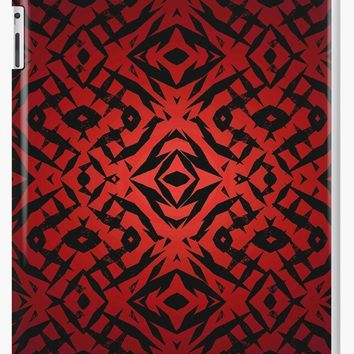 'Red tribal shapes pattern' iPad Case/Skin by steveball