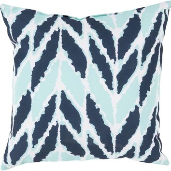 Rain Throw Pillow Blue, Blue