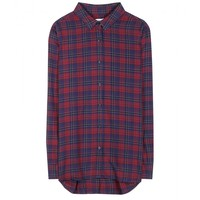 closed - plaid cotton shirt