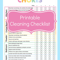 Chore Chart, Chore Chart Printable, Cleaning Checklist, Cleaning Planner, Cleaning Schedule, Cleaning List, Cleaning Printable, Monthly