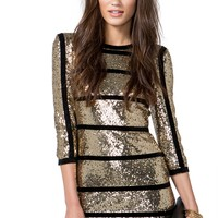 Kate Sequin Piped Dress