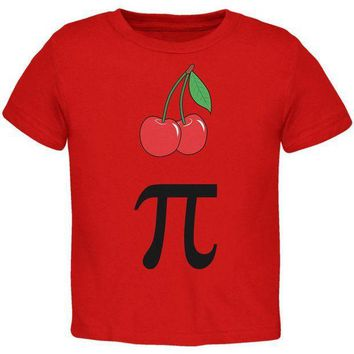 PEAPGQ9 Halloween Math Pi Costume Cherry Day Toddler T Shirt