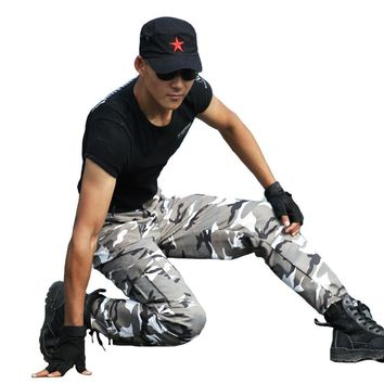 Tactical Pants Cargo Pants Camouflage Working Trouser Mens Special Force Army Camo Thin Cool Clothes