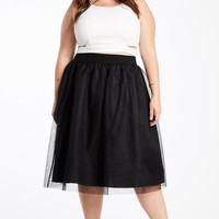 Tulle For You Midi Skirt Plus Size