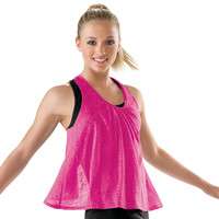 Open Back Burnout Dance Tank; Urban Groove