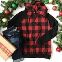Red Buffalo Plaid Hooded Sweater