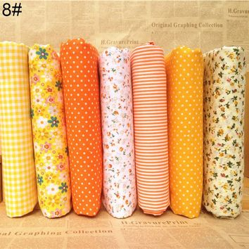 Cute Design 7Pcs/Set Quilting Fabric Floral Cotton Cloth DIY Craft Sewing Handmade Accessory