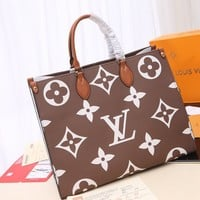 LV Louis Vuitton WOMEN'S MONOGRAM CANVAS ONTHEGO HANDBAG TOTE BAG
