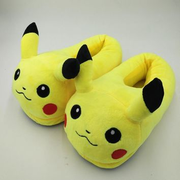2017 winter new women and men shoes fashion casual non slip pokemon slippers pokemon c  number 1