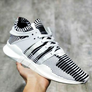 Adidas EQT Support Adv Knitted running shoes Women Men Fashion Sneakers B-MDTY-SHINING White