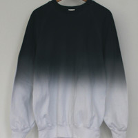 ANDCLOTHING — Black Midnight Dip Dye Sweater SOLD OUT