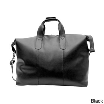 Kozmic 24-inch Leather Travel Duffle Bag | Overstock.com Shopping - The Best Deals on Duffel Bags