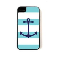 Amazon.com: iPhone 4 Case - Hardshell Protective iPhone 4/4s Case - Aqua Nautical: Cell Phones & Accessories