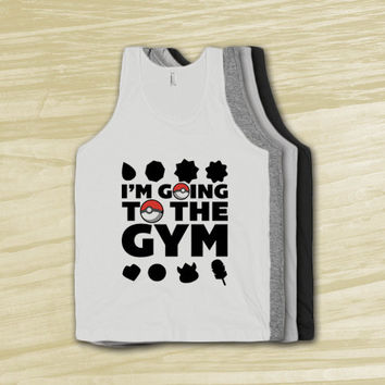 I'm Going to the Gym - Nerdy Workout shirt, Geek fitness tank top, tank, t shirt, anime, shirts, clothing, american apparel,