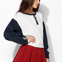BDG Colorblock Henley Pullover Sweatshirt - Urban Outfitters