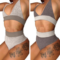 Halter Fashion Backless Underwear Lingerie Two-Piece