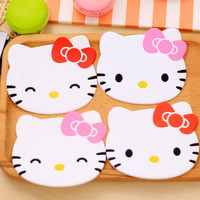 Hello Kitty coaster kitchen placemat table mat home cup drink mug tea coffee pad drink silicone accessories doilies Fruit