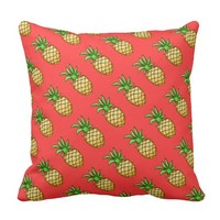 Pineapples Pattern - Tropical Pillow