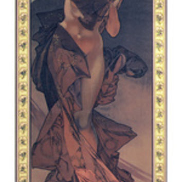 The Moon and the Stars: Morning Star, 1902 Giclee Print by Alphonse Mucha at AllPosters.com