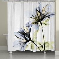 Azalea X-Ray Shower Curtain