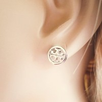 Silver color, Toryburch inspired, Petit Earrings