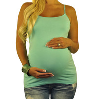 Green Maternity Tank Top - Stay Cool
