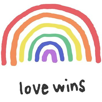 'Love Wins rainbow' Poster by dorismellis