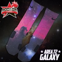 Area 72 Galaxy Custom Nike Elite Socks | Rock 'Em Apparel