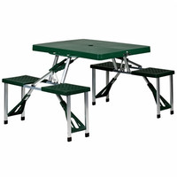 Folding Picnic Table w/ 4 Integrated Seats