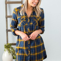 Needing You Plaid Tunic Top- 2 Options