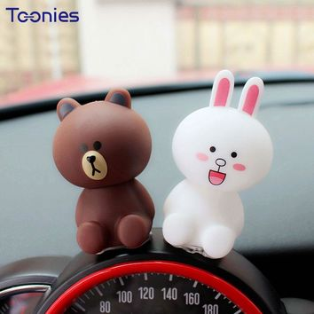 Smart Fortwo Cartoon Bear Rabbit Ornament Auto Cars Decoration Personality Ornaments Lovely Cute Doll Car Accessories Styling