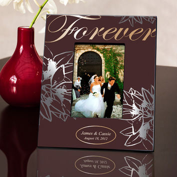 Personalized Couple's Frame - Forever Silver/Gold