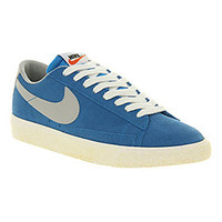 Nike BLAZER LOW VINTAGE PHOTO BLUE STRATA GREY SAIL Shoes - Nike Trainers - Office Shoes