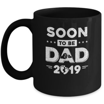 Soon To Be Dad EST 2019 Promoted New Daddy Mug