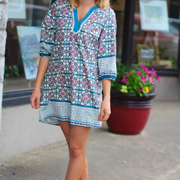 City Dreamer Shift Dress {Dusty Blue}