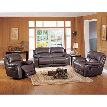 Branded Shiny Leather Recliner Sofa