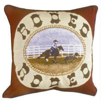 Rodeo Throw Pillow - One Side Design