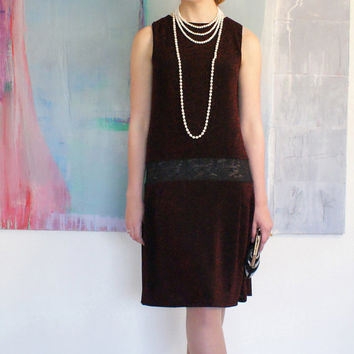 1920s dress, great gatsby, flapper dress, 20s clothing, jazz dance, party dress, 20s wedding, drop waist in black and red