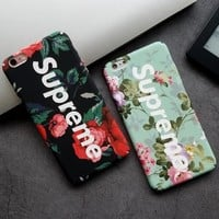 Supreme Fashion Flower Print iPhone Phone Cover Case For iphone 6 6s 6plus 6s-plus 7 7plus 8 8plus