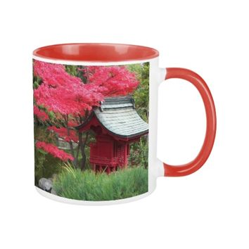 Autumn Japanese Garden Photo Coffee Mug